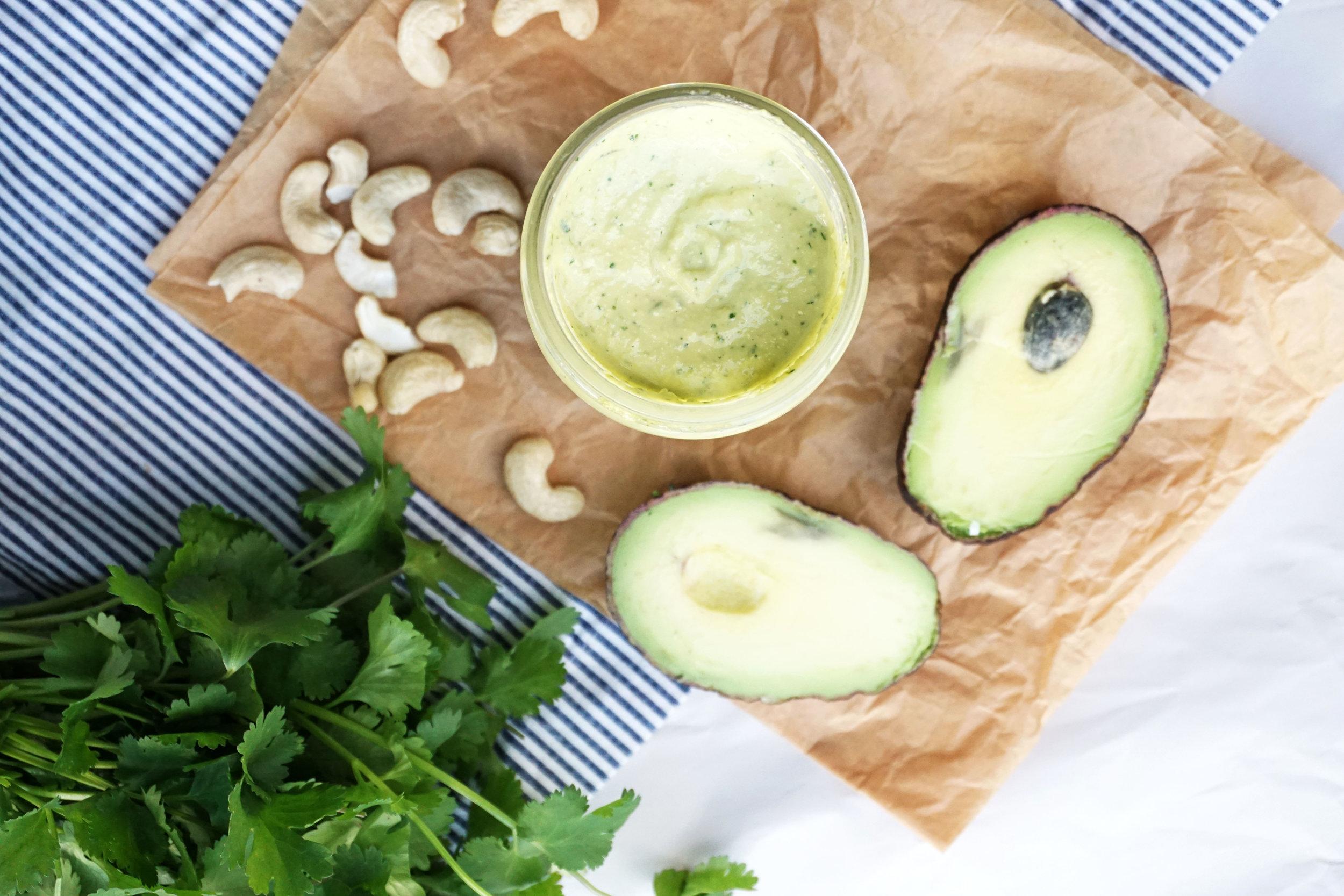 Avocado Cashew Crema (Vegan, GF)