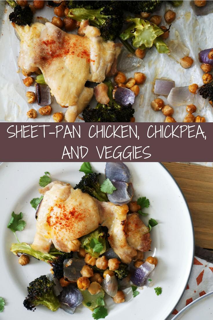 Sheet-Pan Chicken, Chickpeas, and Veggies