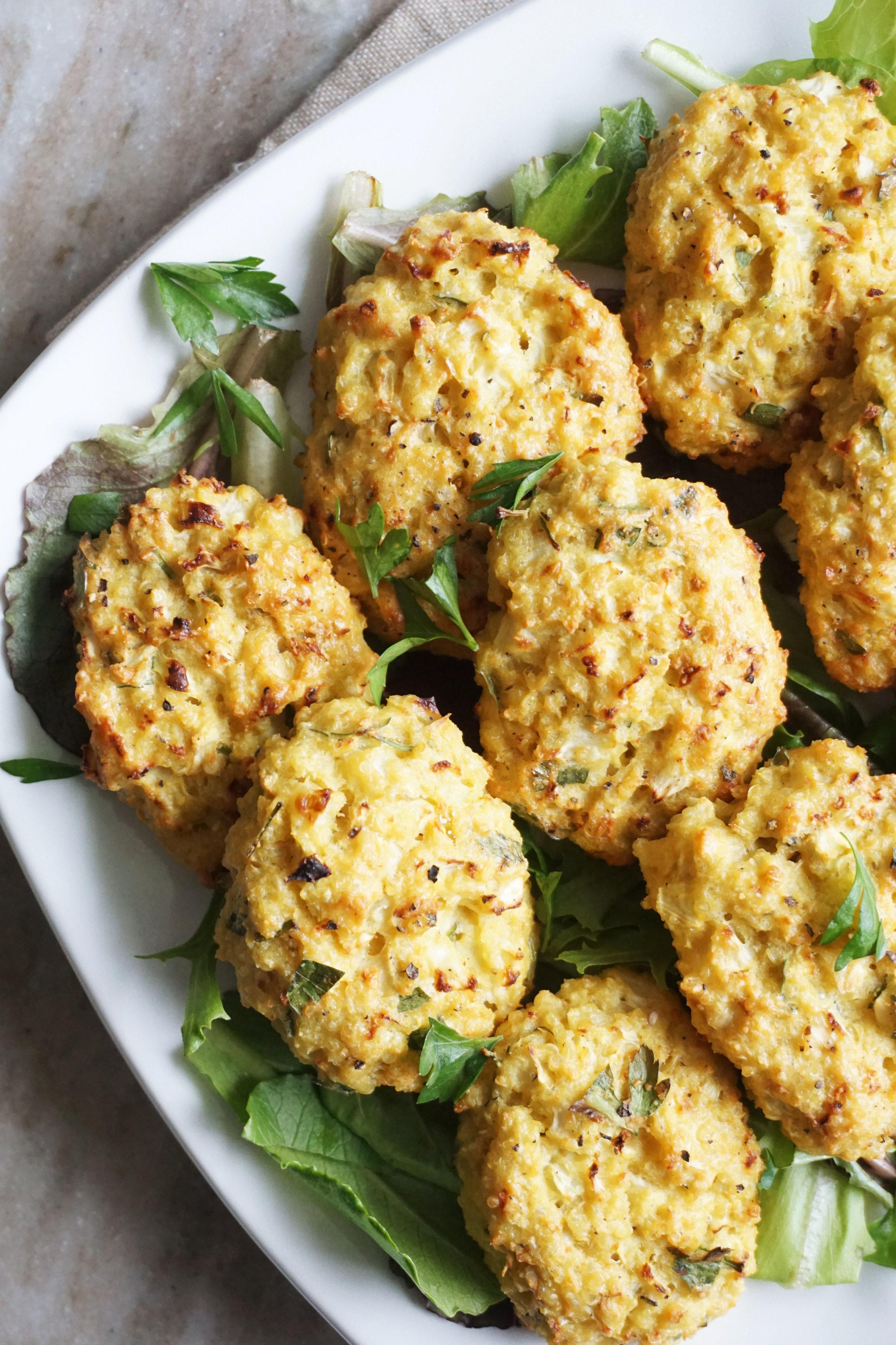 Cauliflower Quinoa Tots (GF)