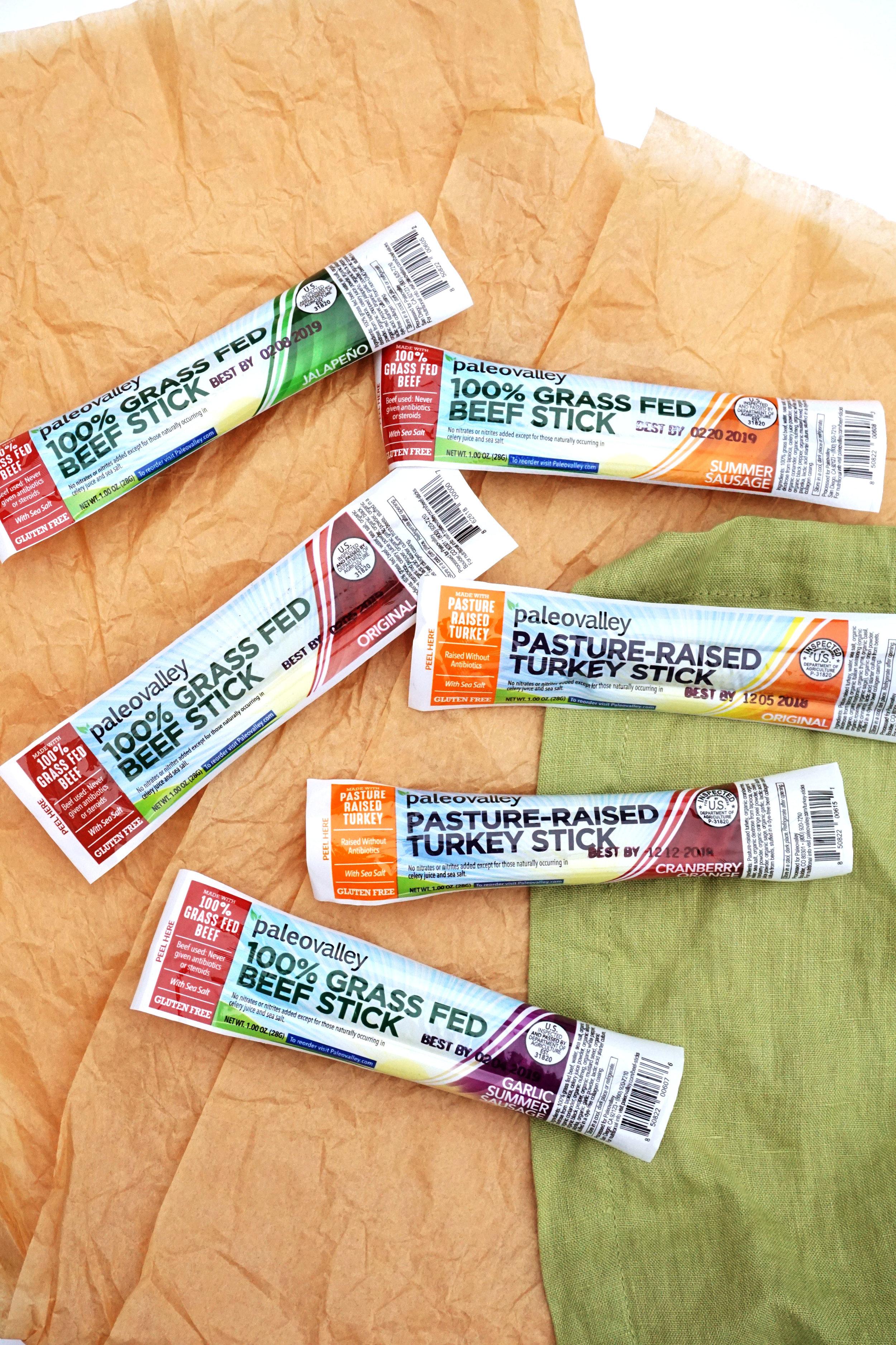 PaleoValley Pasture-Raised Turkey and Grass-Fed Beef Sticks