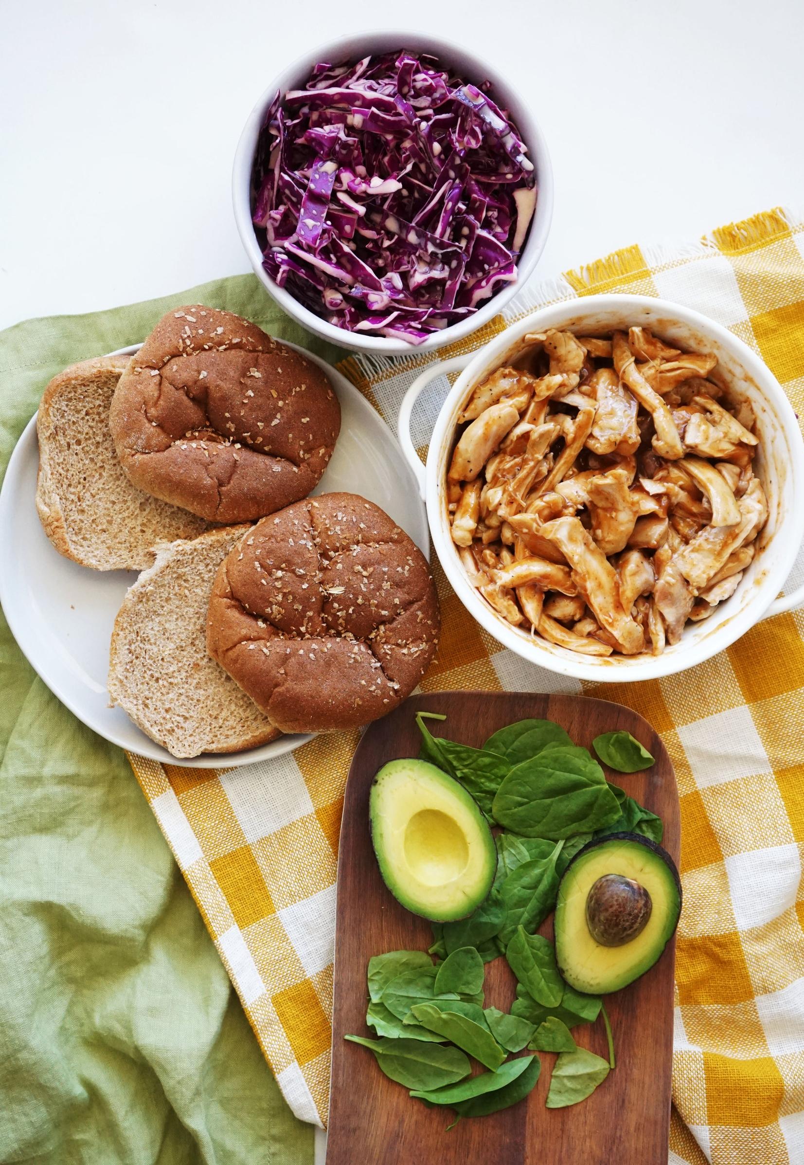 Simple BBQ Chicken Sandwiches