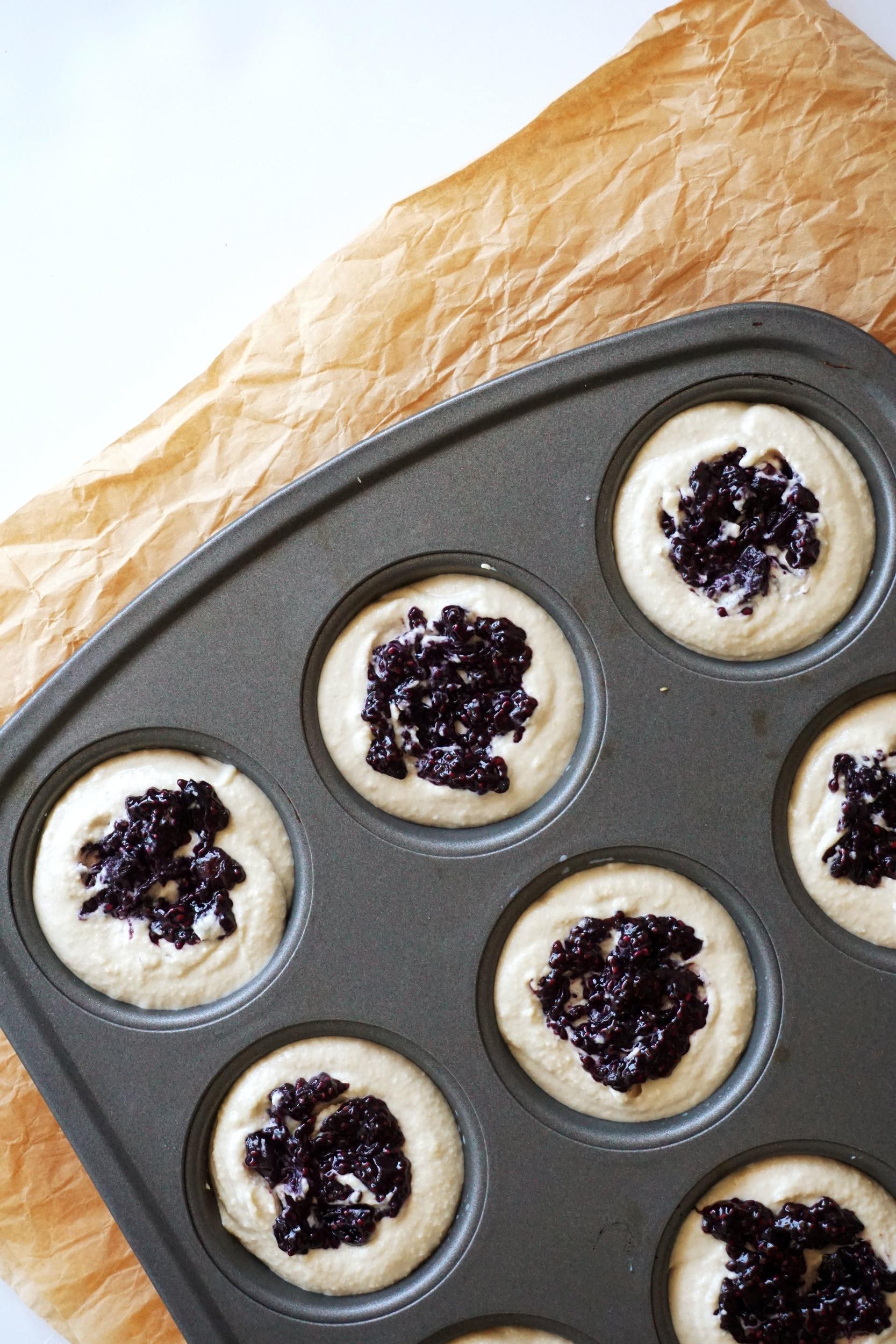Mini Blueberry Cheesecakes (Vegan, GF)