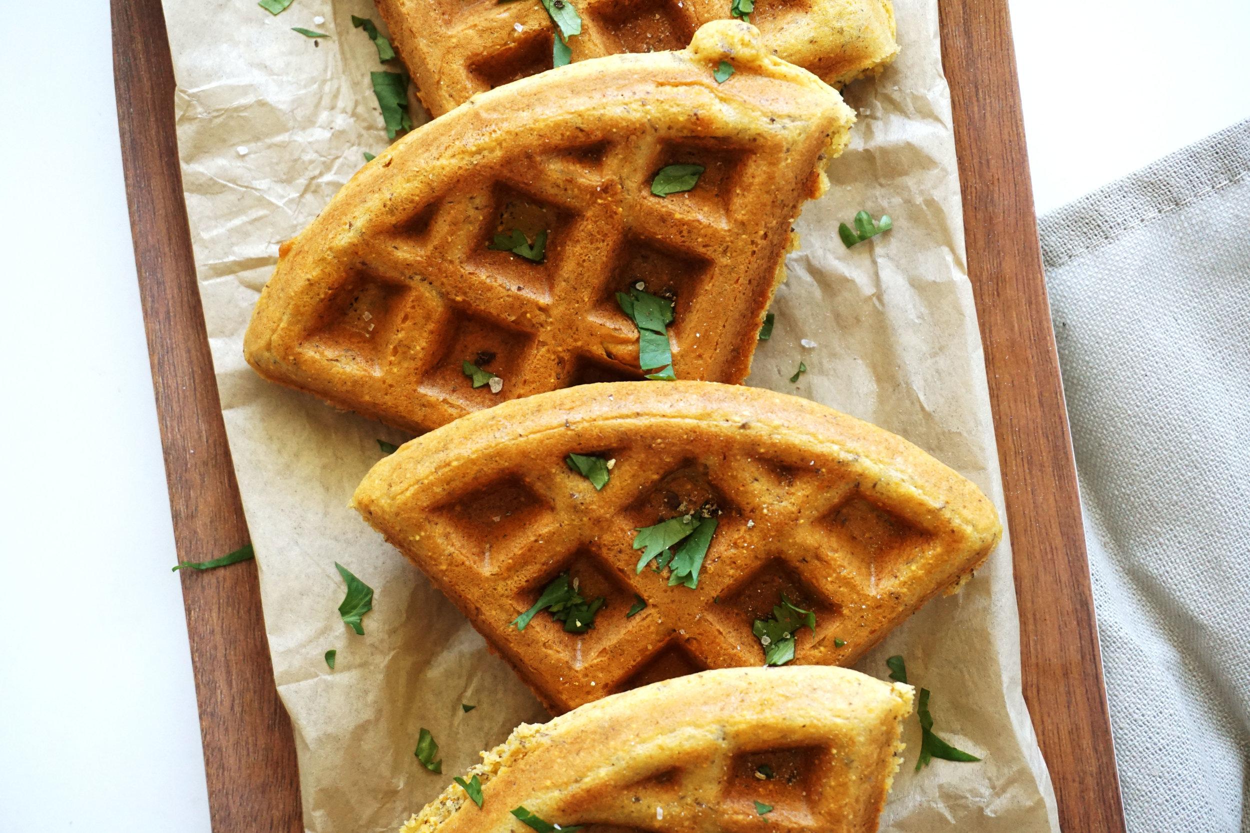 Savory Honey Cornbread Waffles (GF)