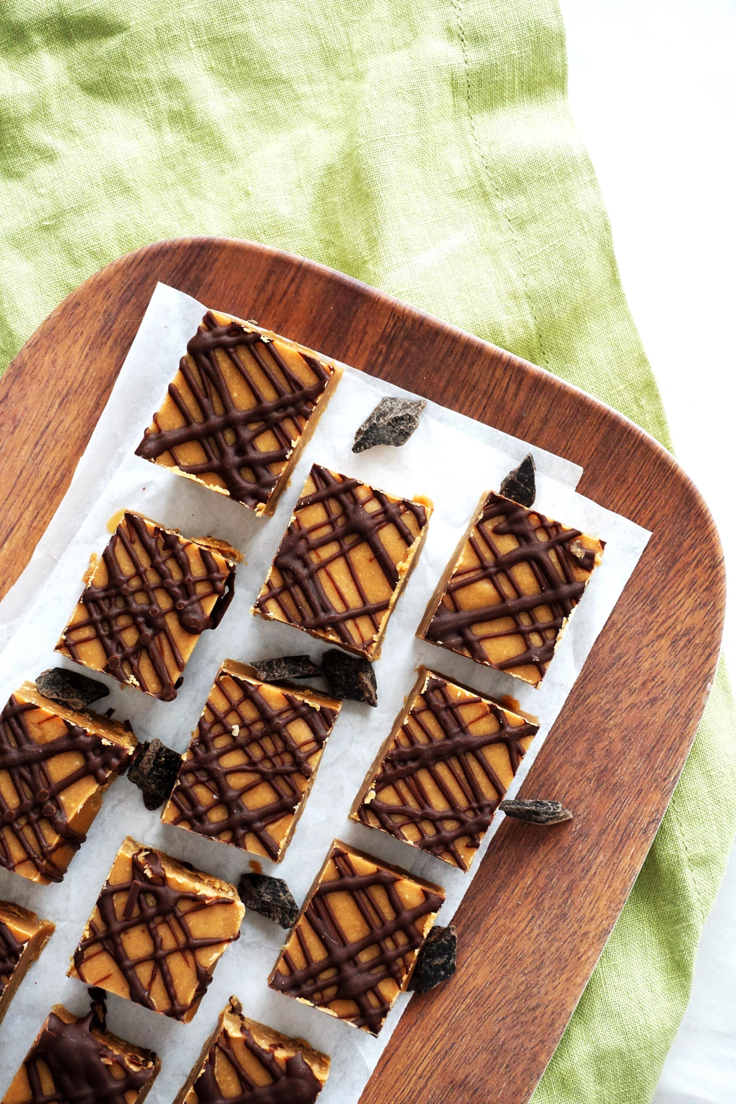 Peanut Butter Coconut Fudge (GF, Vegan option)