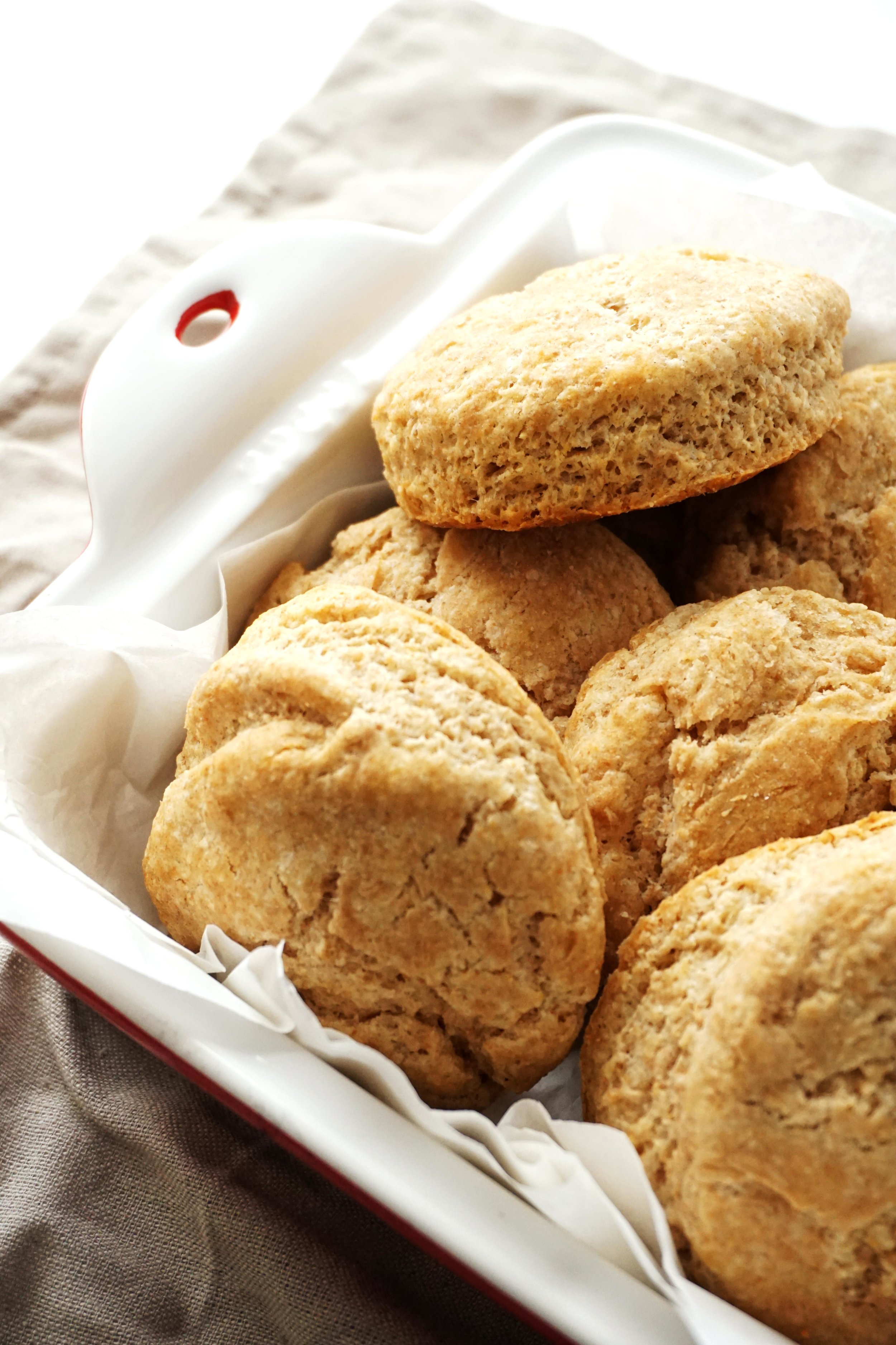 Simple Honey Whole-Wheat Biscuits