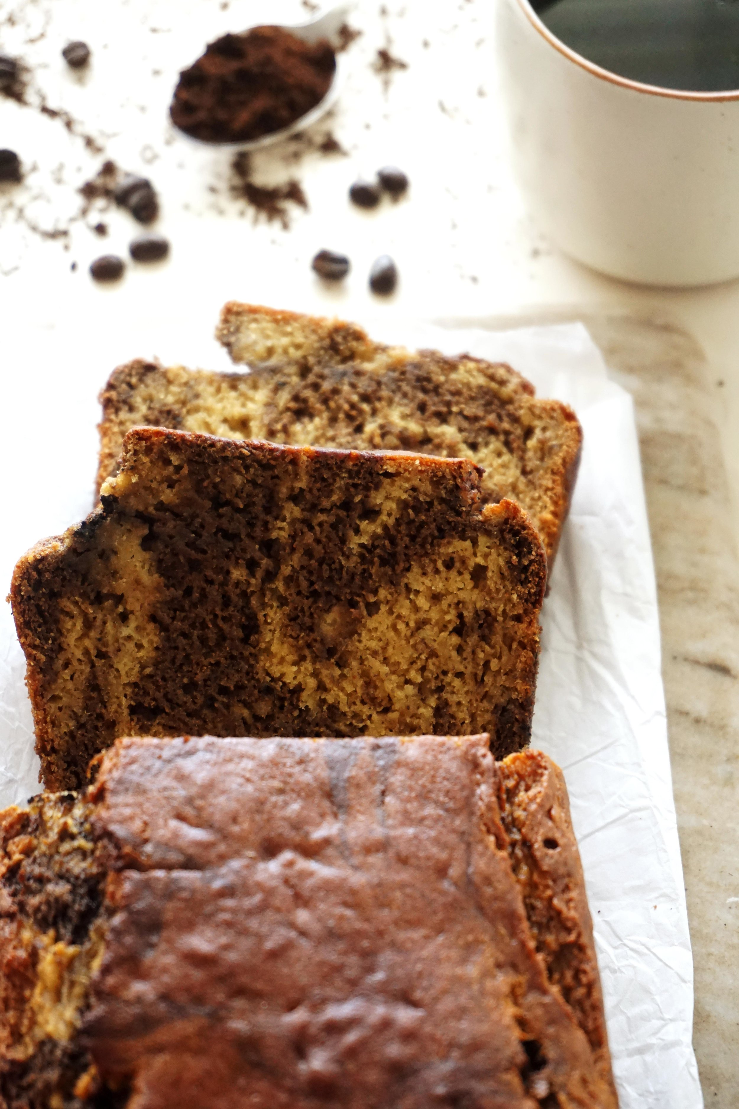 Marbled Cinnamon Latte Banana Bread