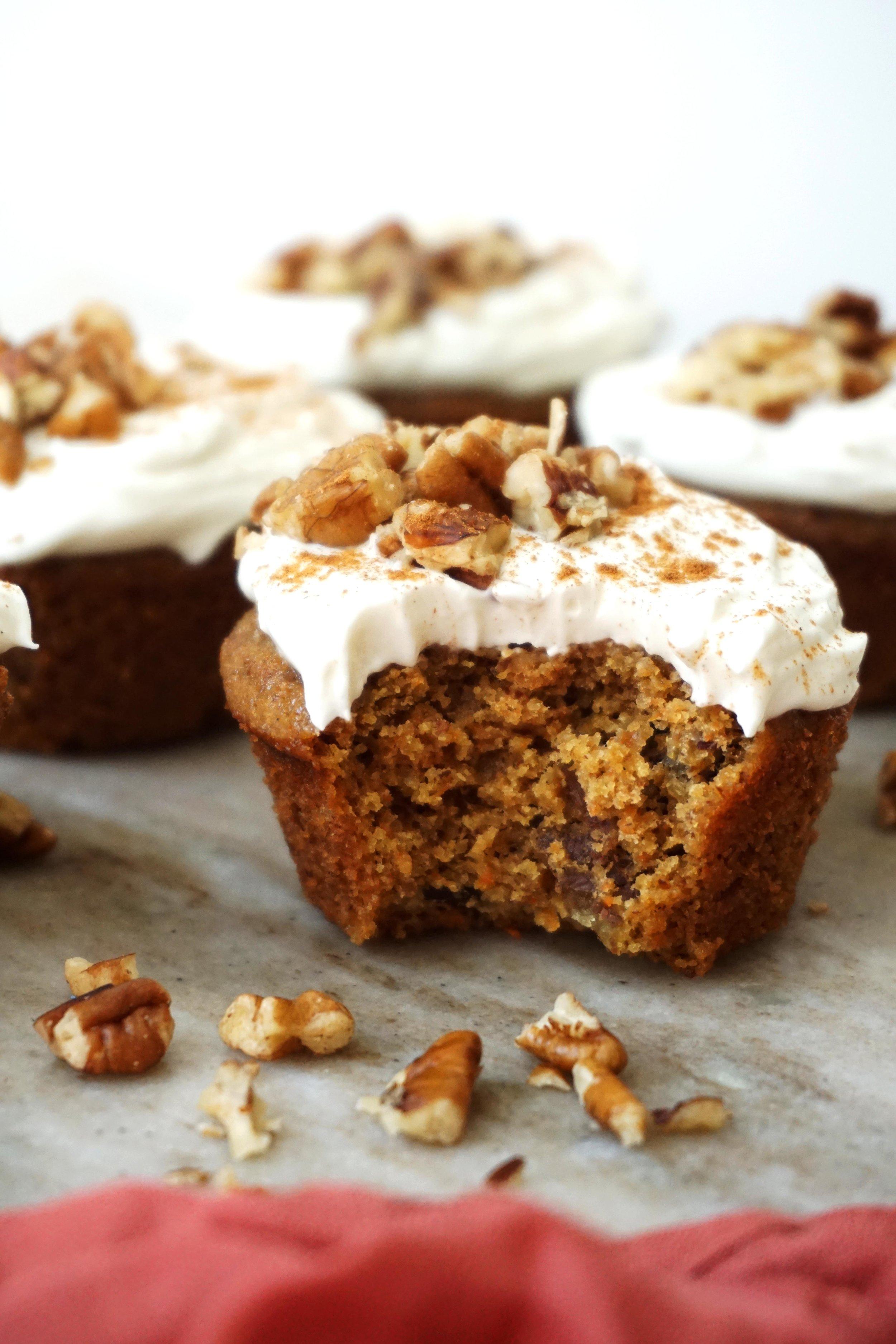 Carrot Cake Cupcakes (grain-free)