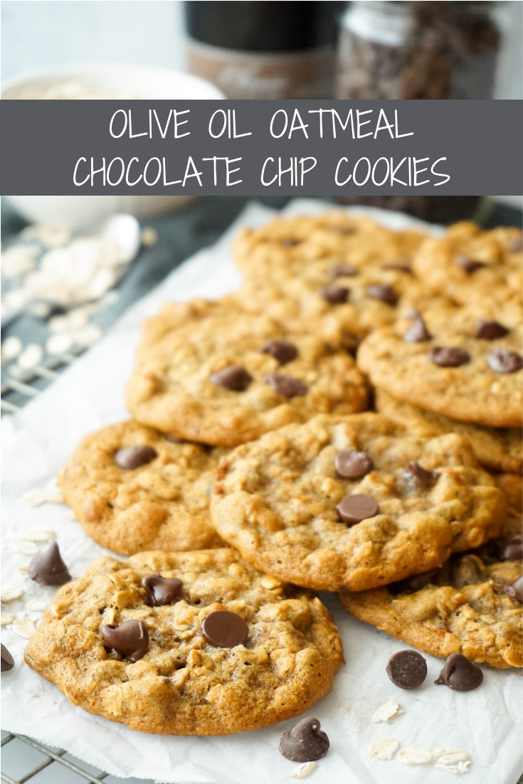 Olive Oil Chocolate Chip Oatmeal Cookies