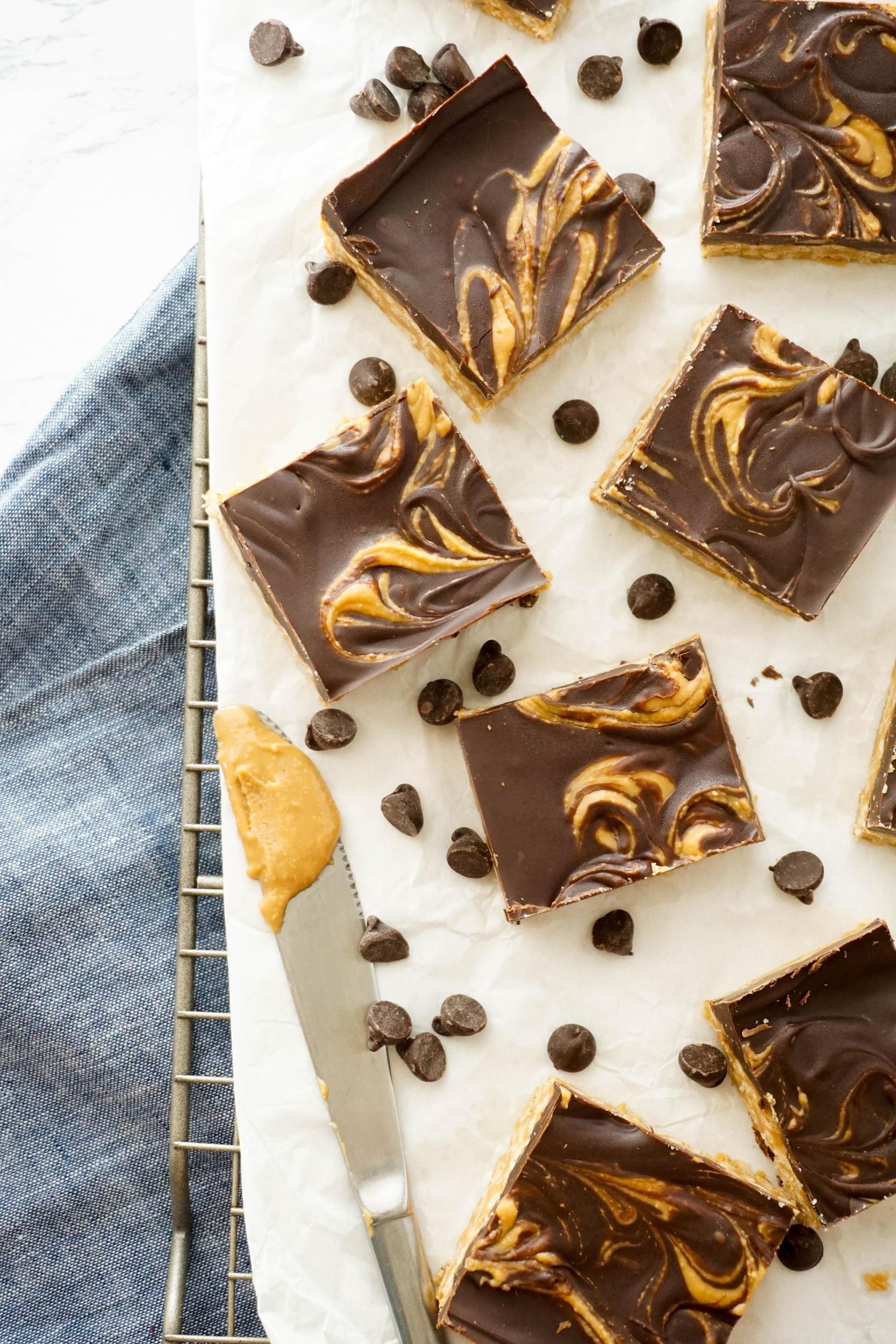 Dark Chocolate Scotcheroos (V, GF)