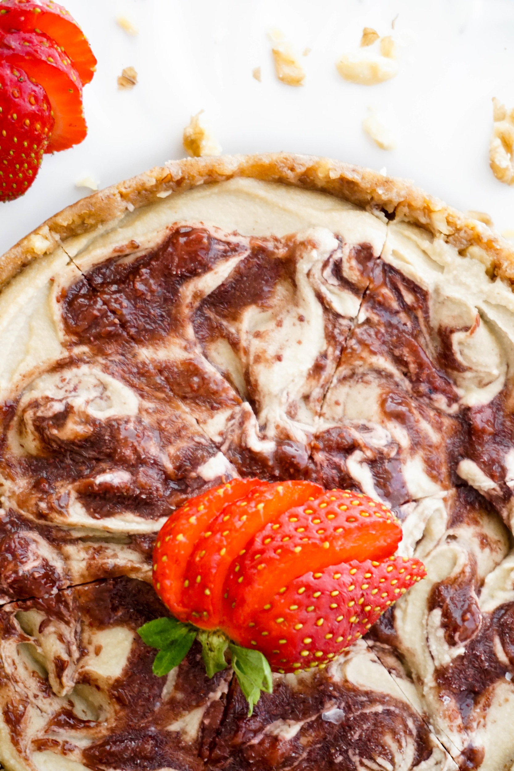 Strawberry Swirl Cheesecake (V, GF)