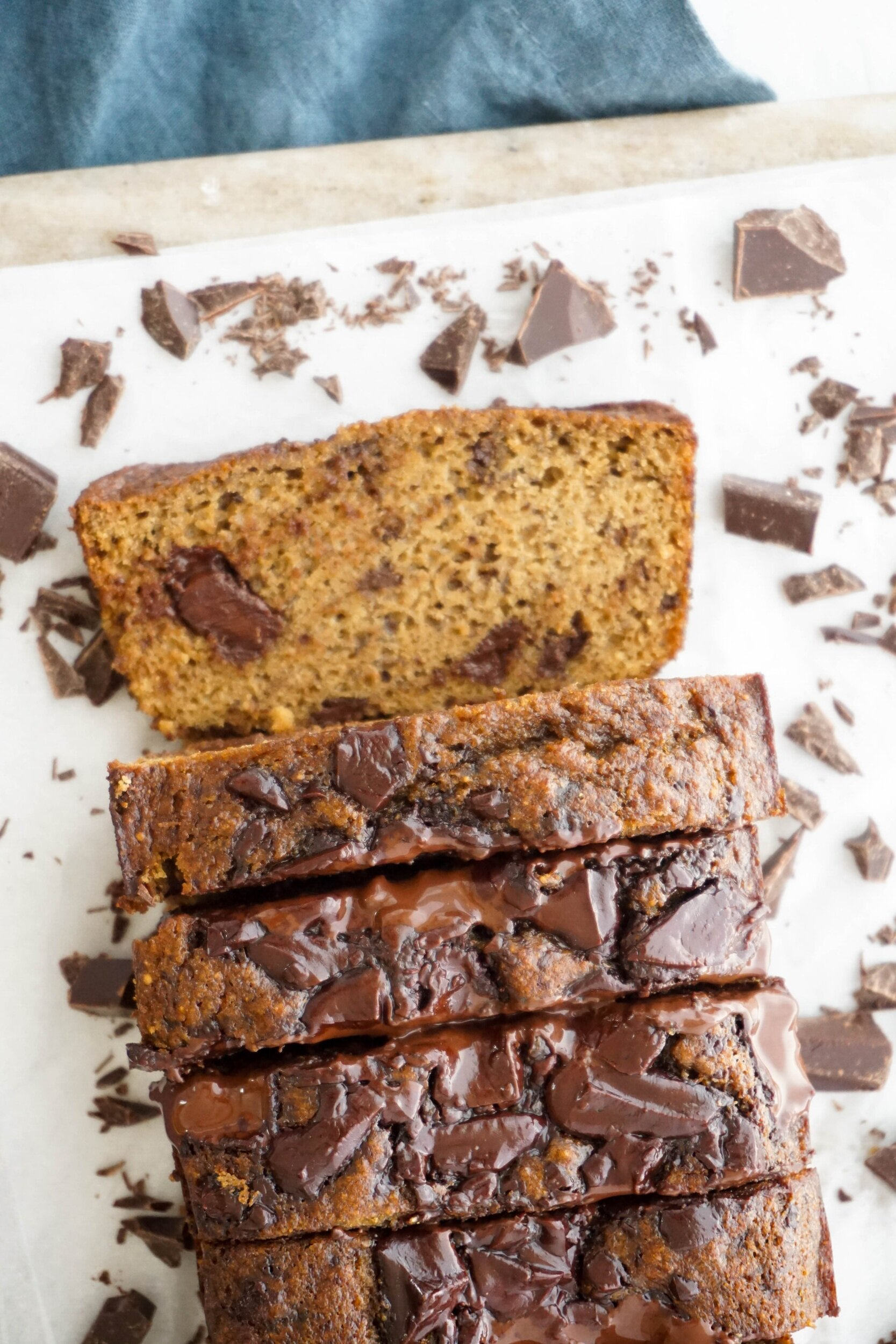 Vanilla Almond Chocolate Chip Banana Bread (Grain-free, Dairy-free)