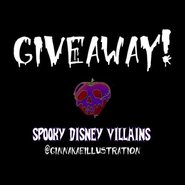 It's GIVEAWAY time! 💜  This time featuring my entire collection of spooky Disney villains - FRAMED prints & stickers of each design. Swipe to see the photos of what all is included 😍 RULEZ: 💫 Must be following me @ginnakaeillustration 💫 Like this post and tag a friend or two in the comments (enter as many times as you want!) 💫 Repost any of the above images OR any of my Disney villain designs 💫 Accounts need to be switched to public to participate! Last day to enter will be Thursday June 13th - random drawing for the winner will be announced Friday June 14th!! 💜 GOOD LUCK GHOULS! 👻#ginnakaeillustration #ginnakaegiveaway