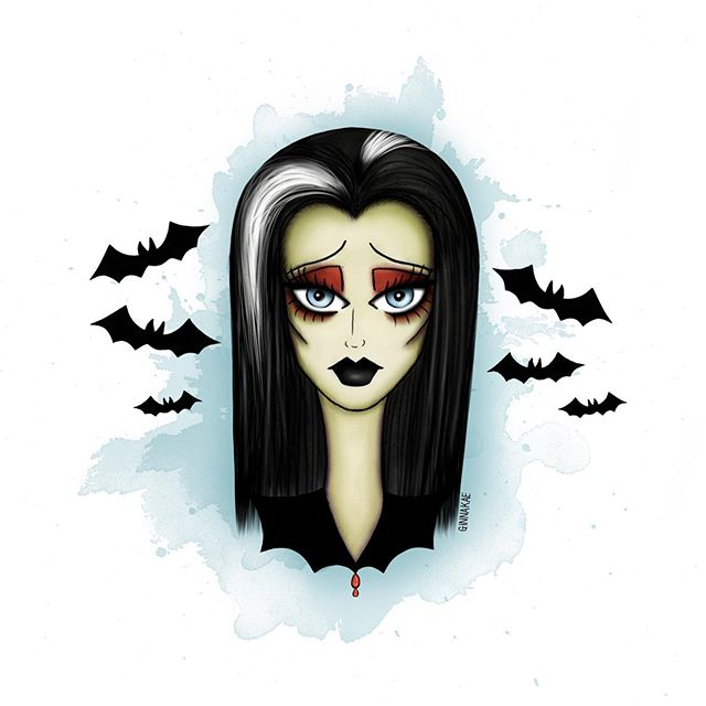 hiii ghouls and happy Tuesday! 👻 If you've seen my recent insta stories you'll see I have a new spooky girl design - finally welcoming Lily Munster to the club 🦇🦇🦇 I also just created an email signup list! So if you want to join DM me your email, with joining you'll automatically receive 10% off my Etsy shop! plus you'll be the first to know shop updates, secret sales, and more ✨ #ginnakaeillustration