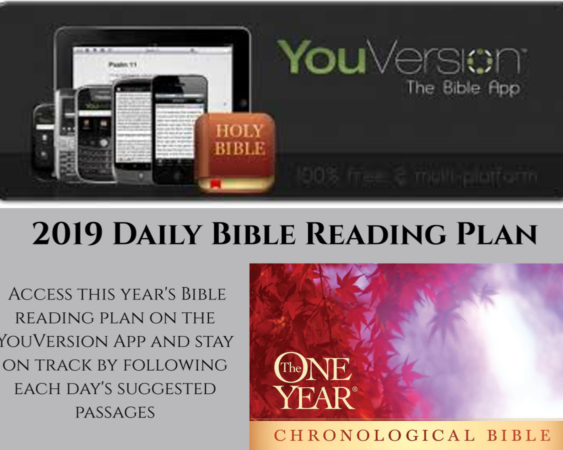 spend time in God's word every day by joining us on the One year chronological bible reading plan