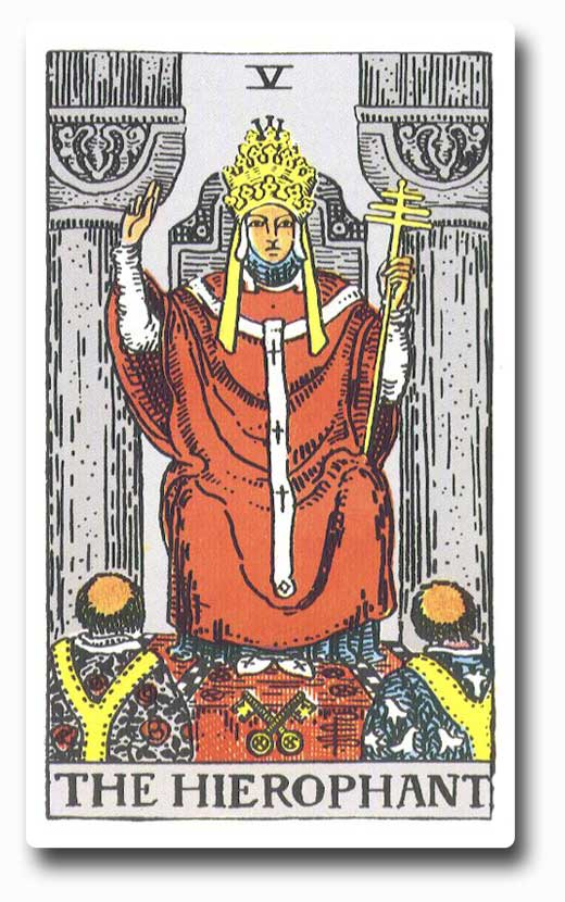 The Hierophant is card 5 of the Major Arcana