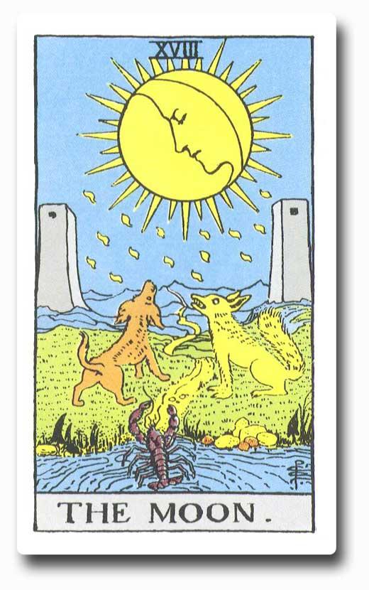 The Moon is card 18 of the Major Arcana