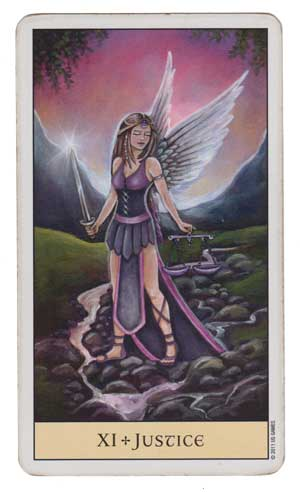 Crystal Visions Tarot Copyright  Jennifer Galasso  Image used with permission.