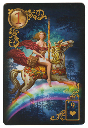 The Rider, from Gilded Reverie Lenormand, by  Ciro Marchetti .