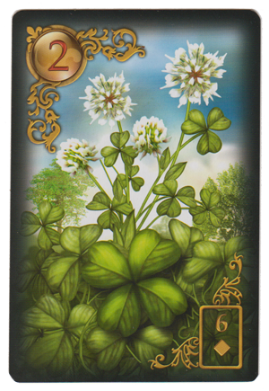 Clover from Gilded Reverie Lenormand, by  Ciro Marchetti .
