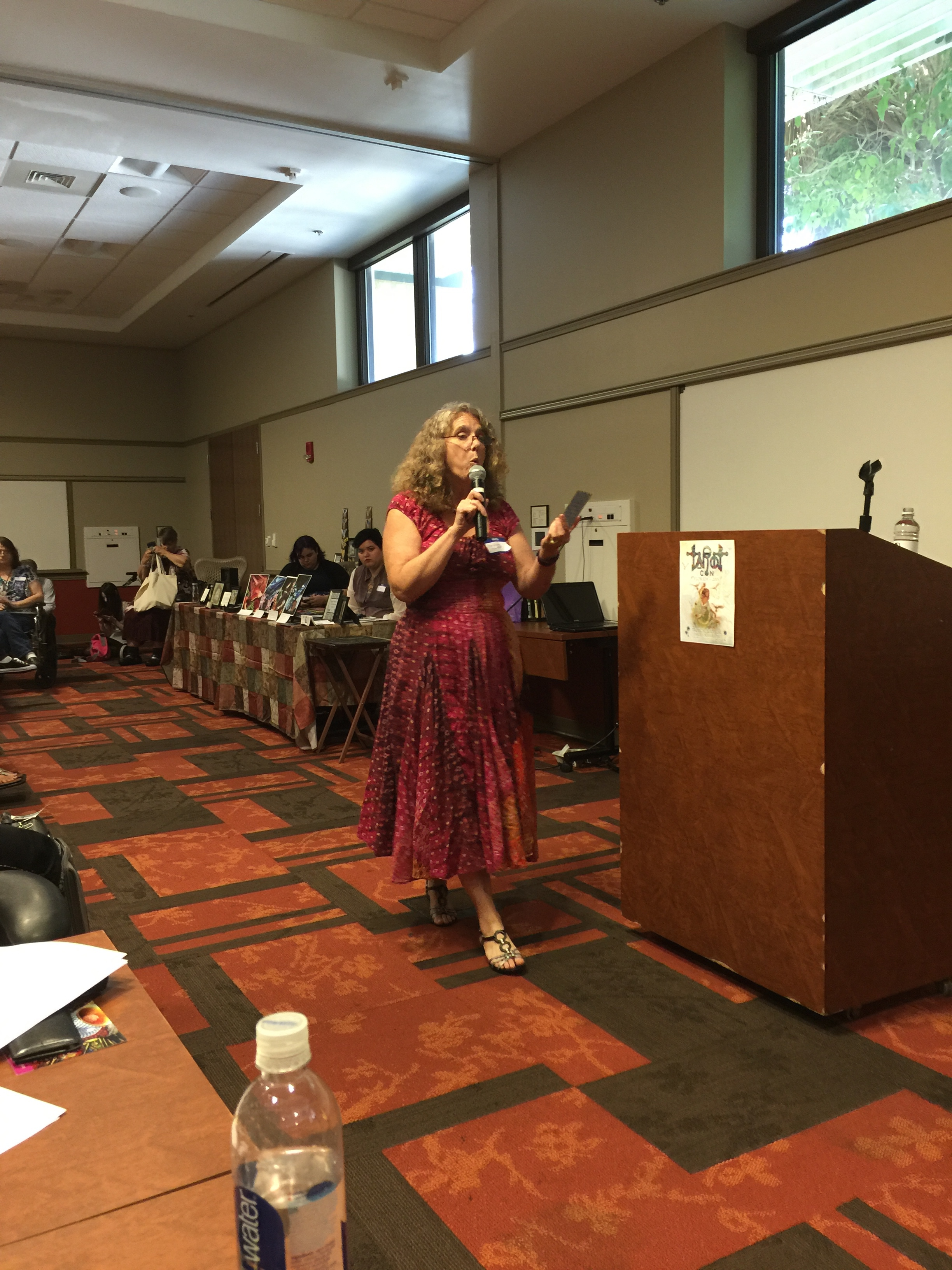 "Christiana Gaudet presented ""Talk with Tarot and Find your Flow""."