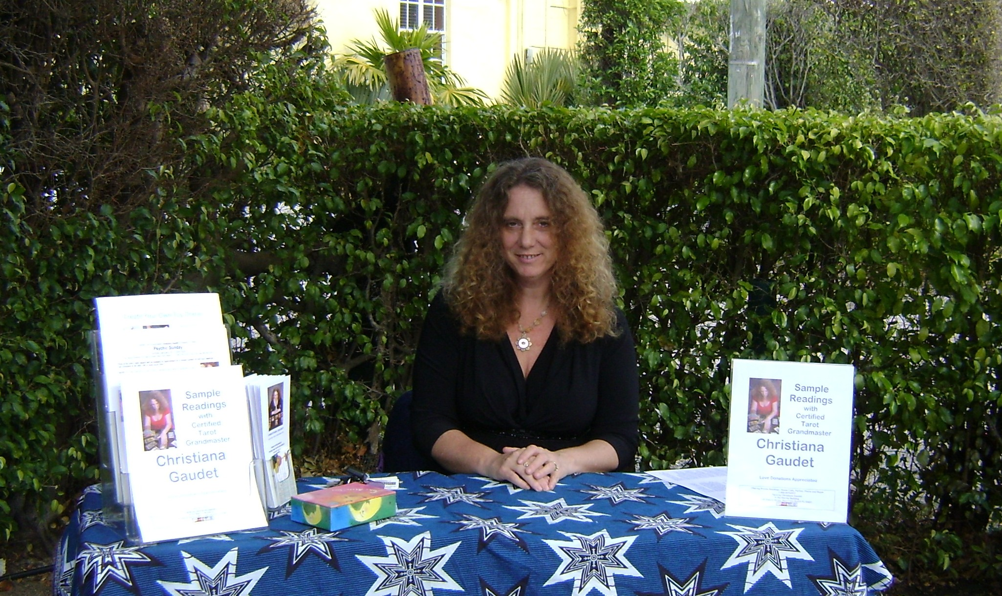 Christiana Gaudet, January, 2011, at a health fair at a chiropractic office.