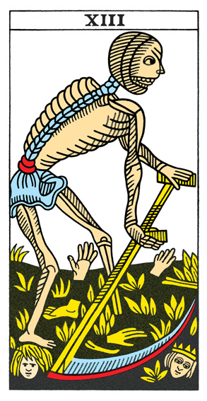 Card 13 from the CBD Tarot de Marseille