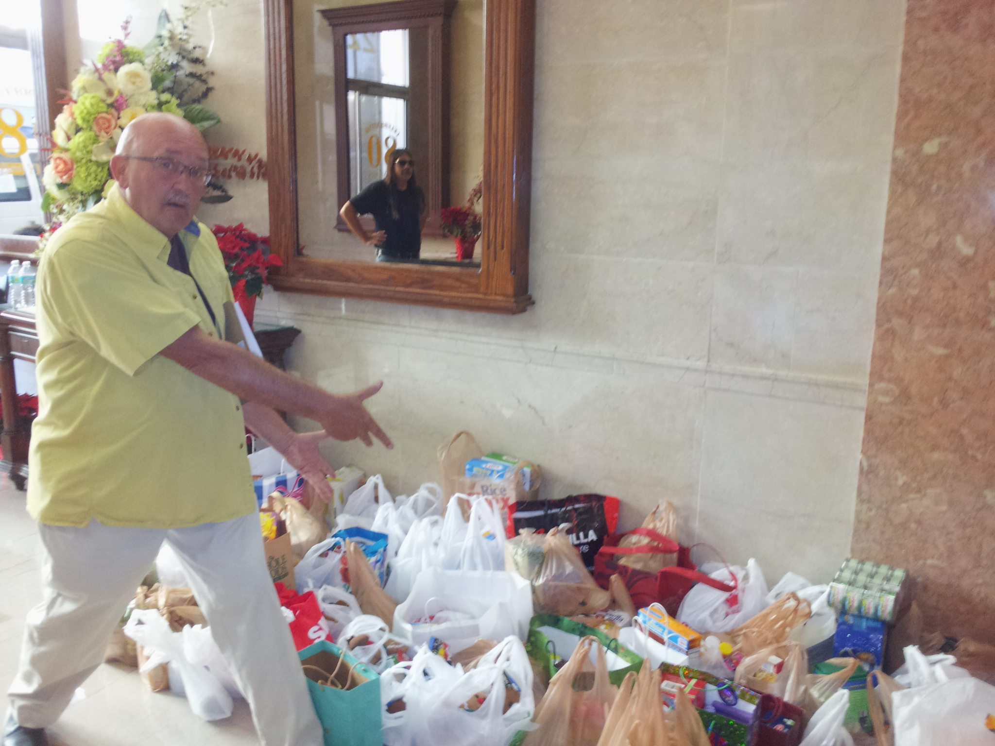 Holiday Open House 2012, at the Harvey Building in West Palm Beach. We raised a lot of food!