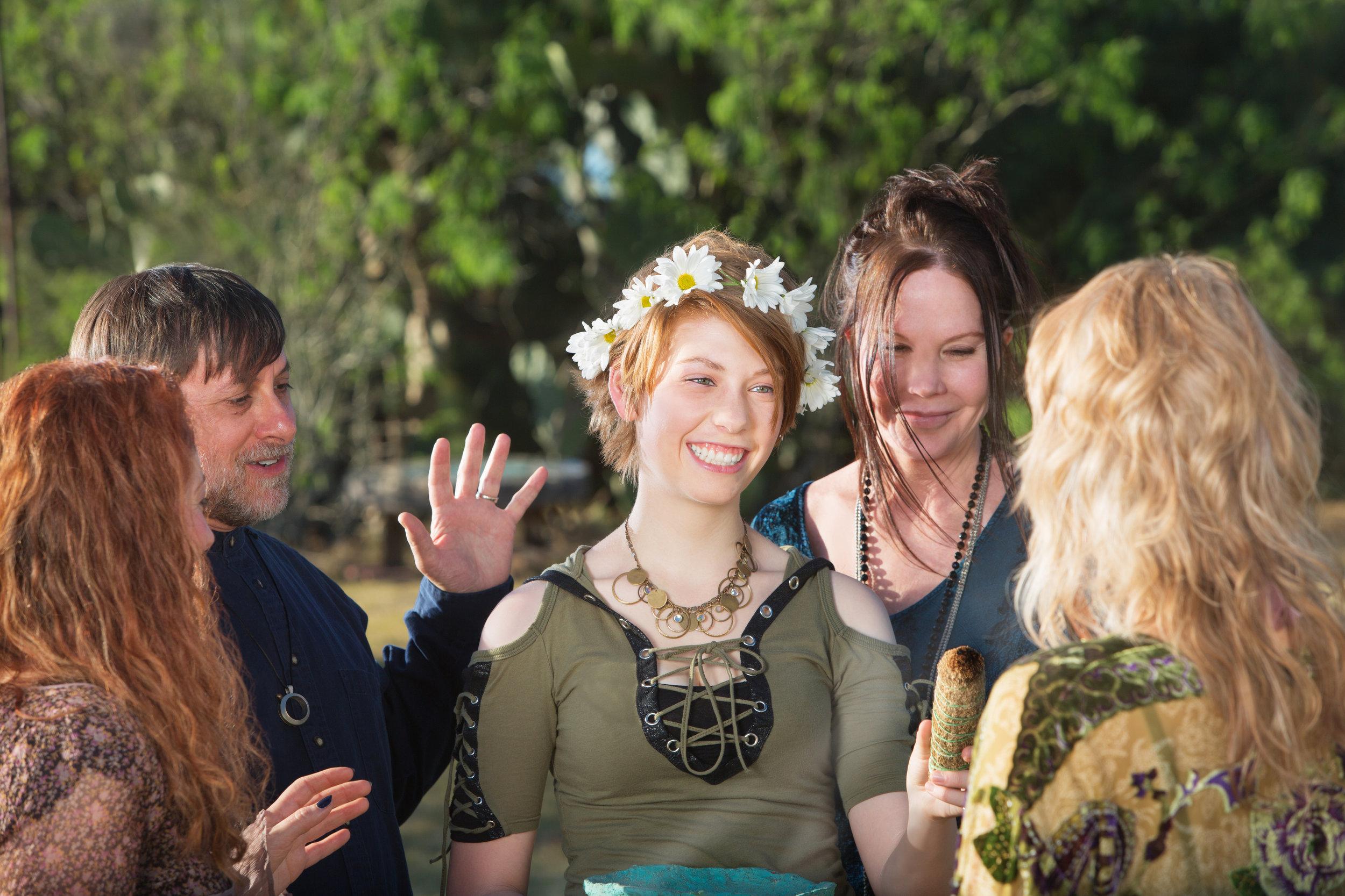 Woman in Pagan Initiation Ritual