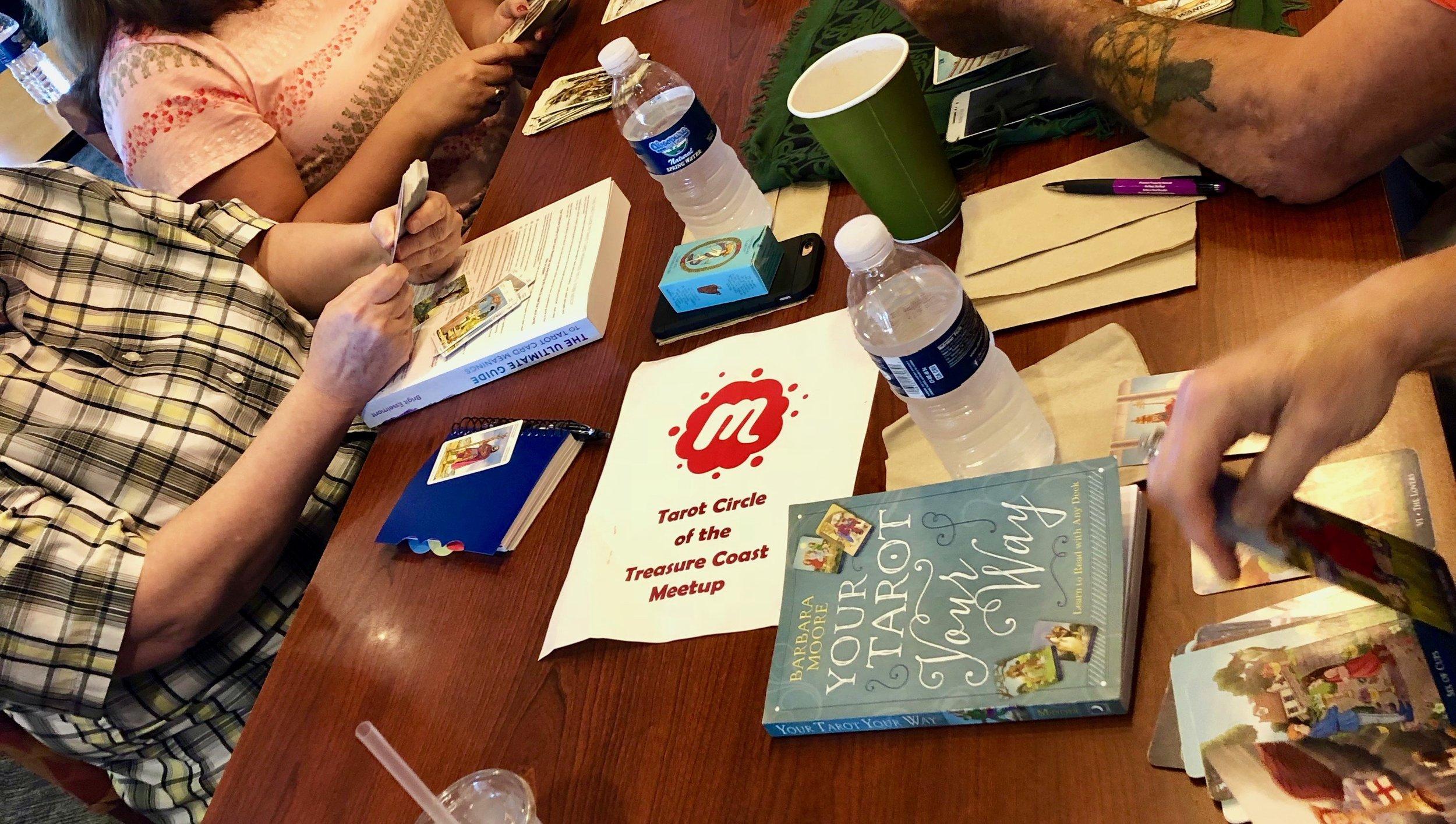 Cards and Conversation Tarot Meetup - at Panera Bread in Palm City, Florida