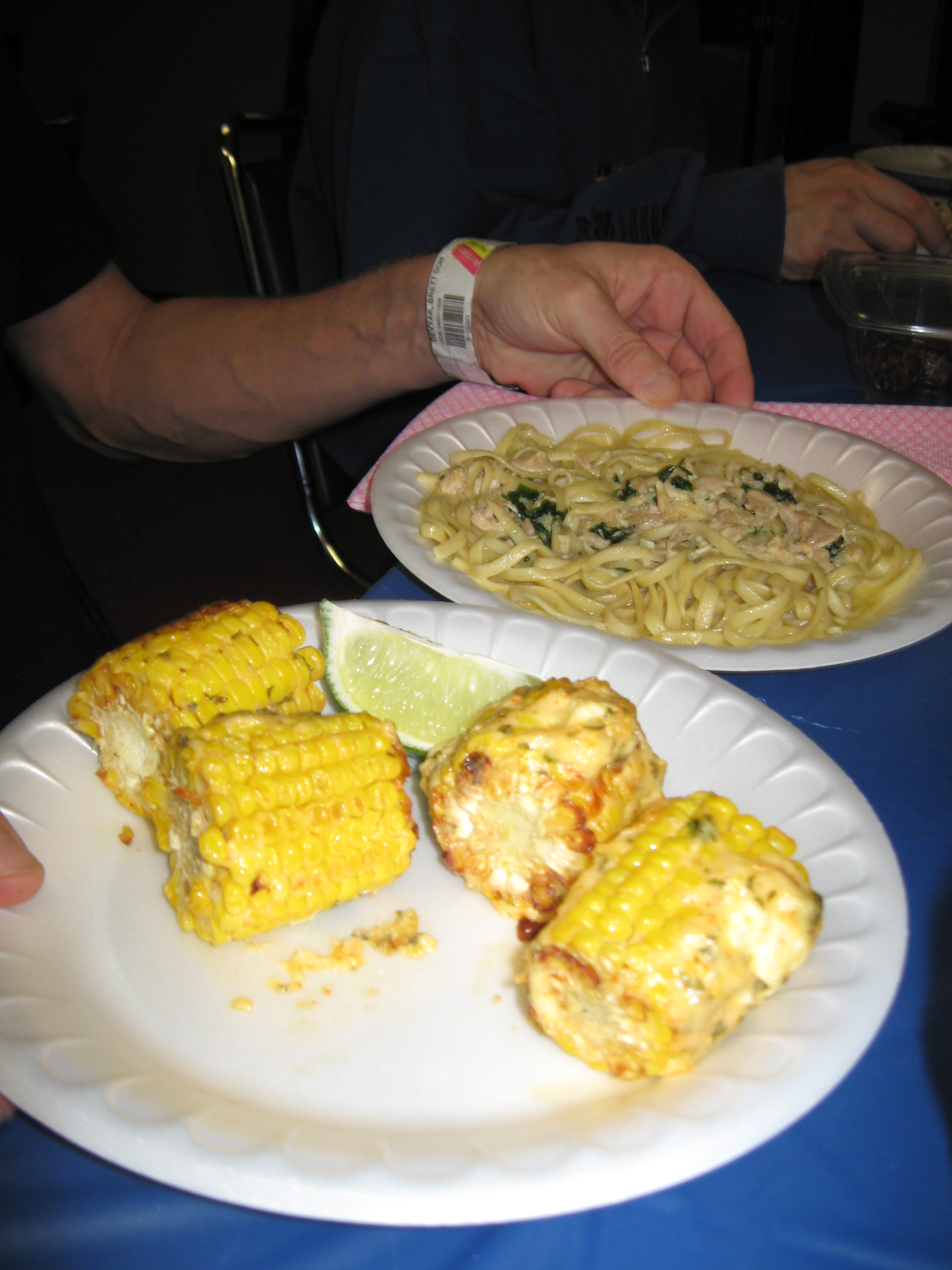 mexican street corn and linguine & clam sauce.JPG