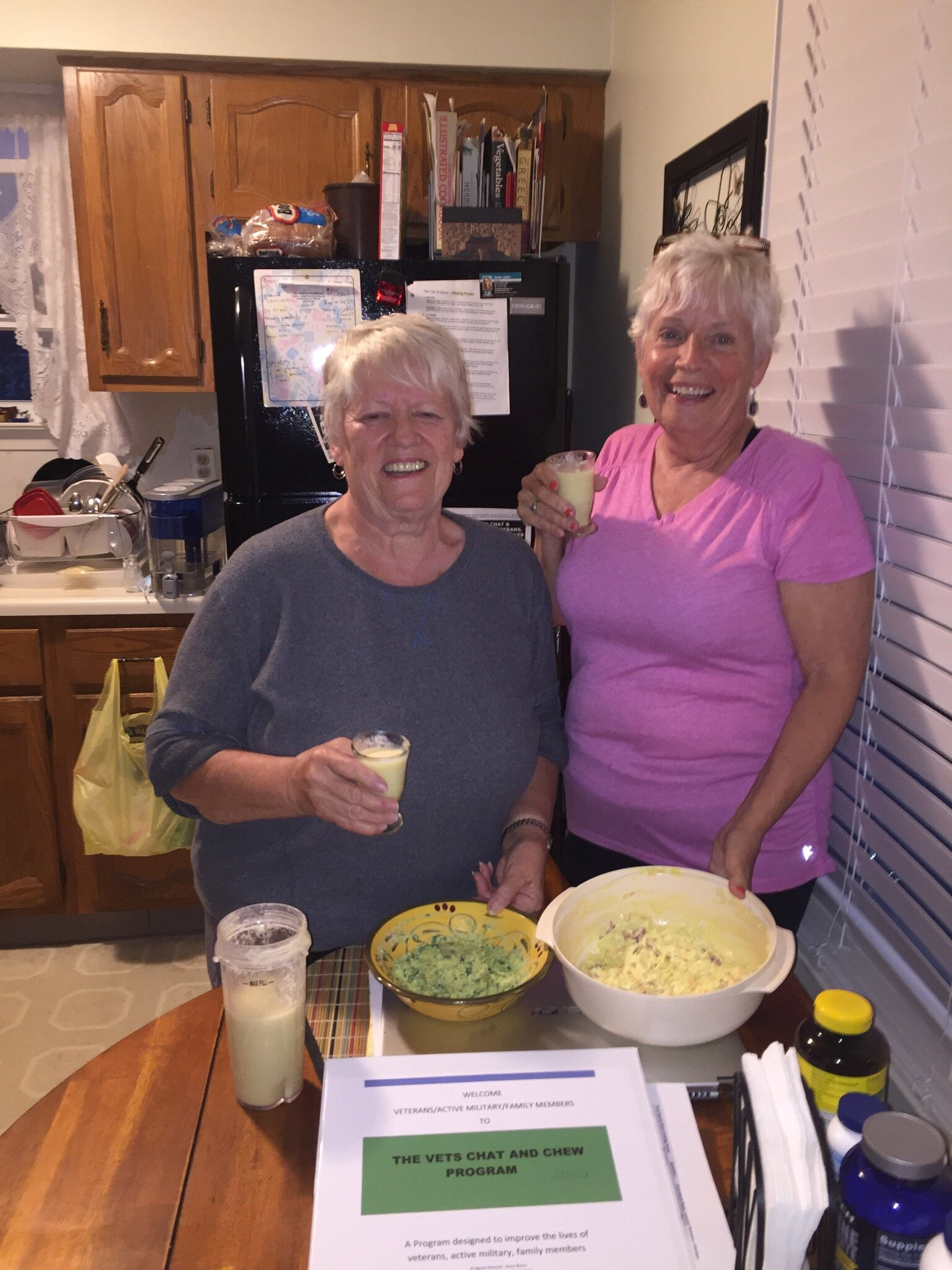 Sharon & Barbara guacamole, coleslaw & healthy pina colada.jpg