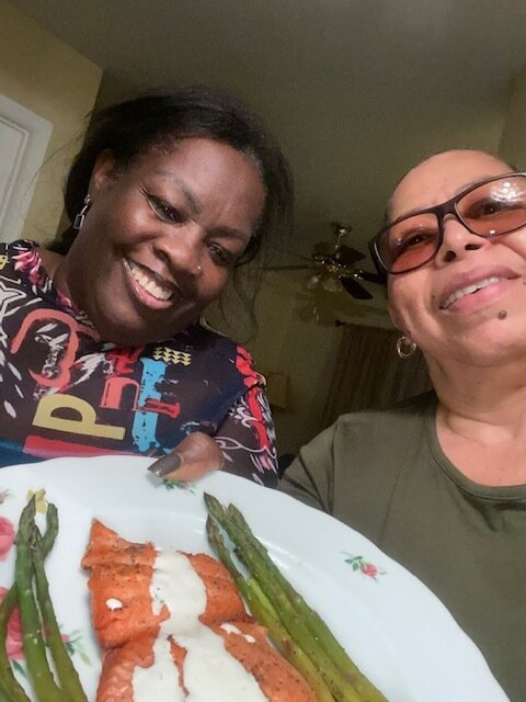 Yvonne & Deidre cooking together.jpg