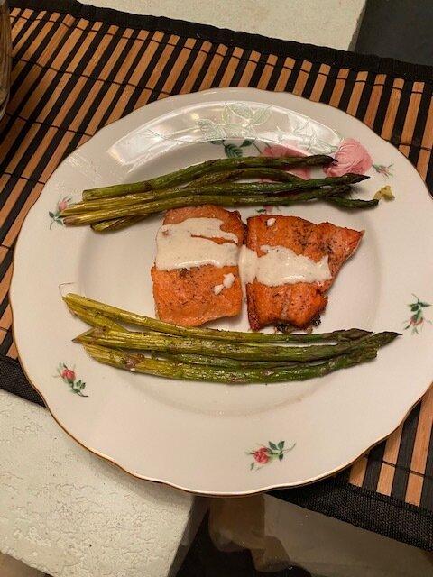 Yvonne & Deidre's salmon & roasted asparagus.jpg