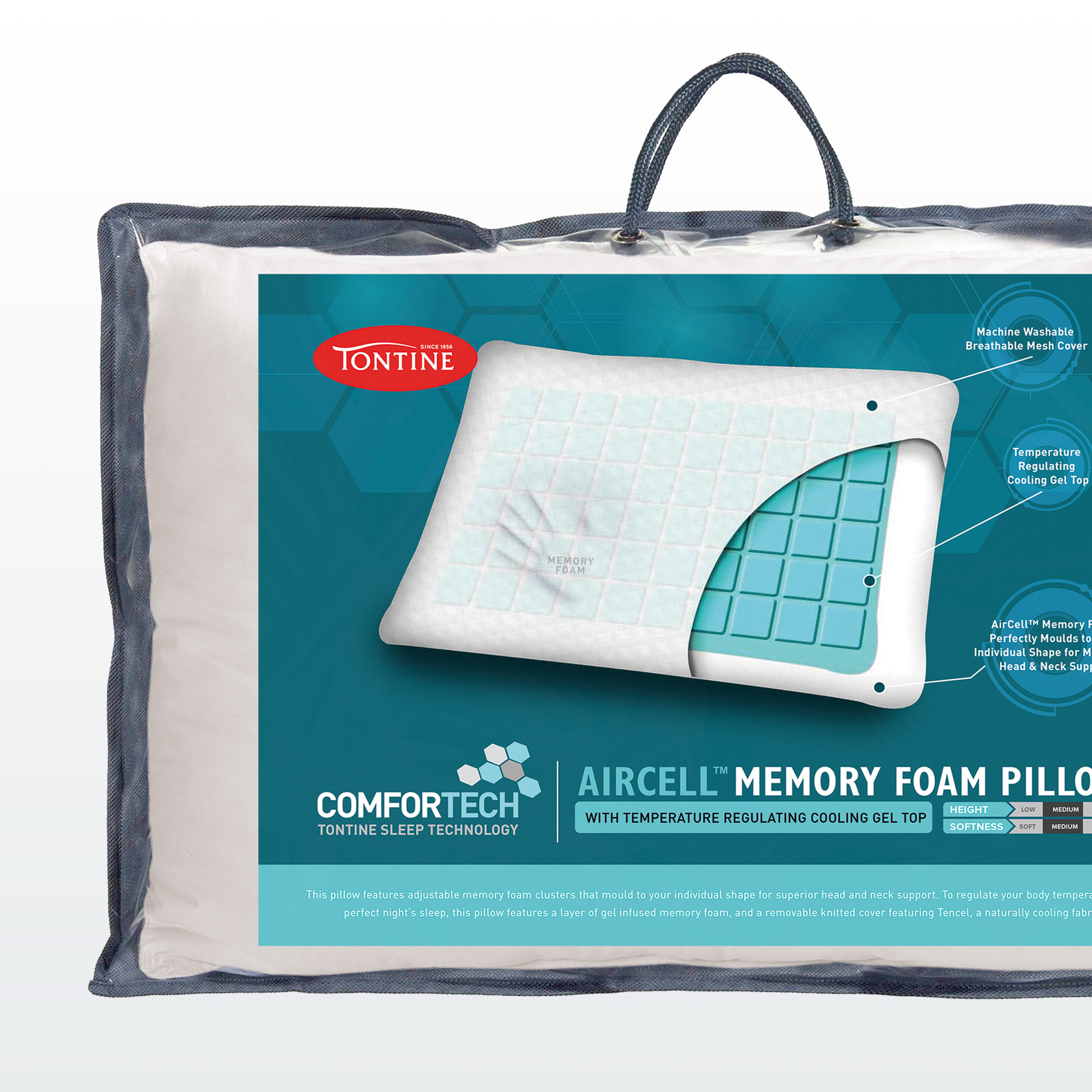 Tontine Comfortech packaging
