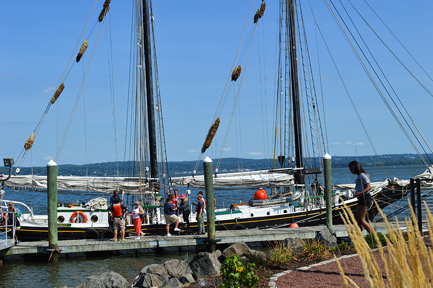 South Street Seaport's schooner Pioneer in Emeline Park, Haverstraw, NY