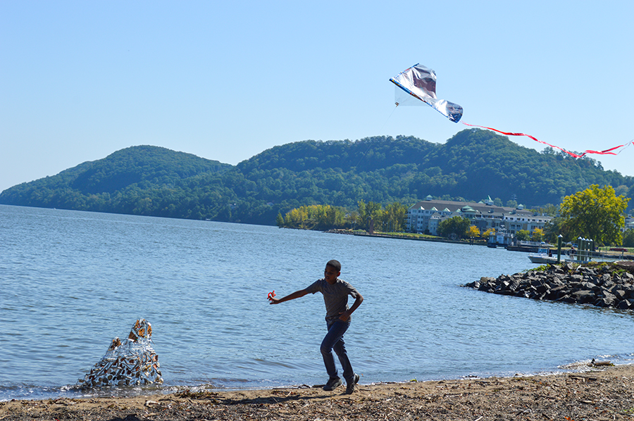 "A scene from the Kite Making Project - ""Freedom to Fly."""