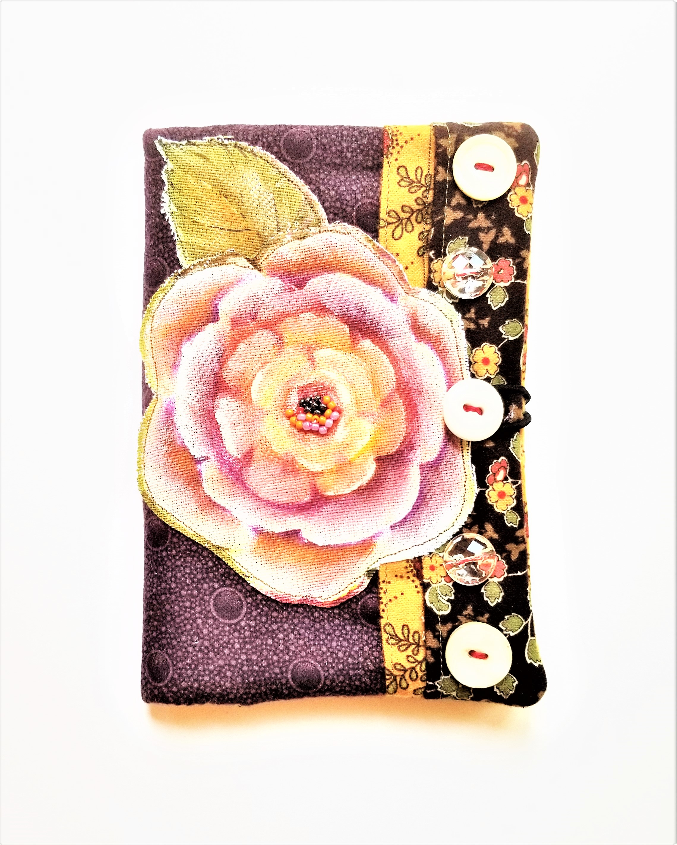 Vintage Floral Passport Wallet by Robin Larido.jpg
