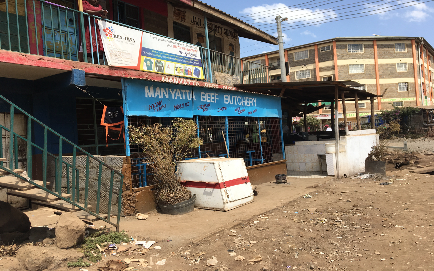 Manyatta Butchery:  One of the places where street boys sleep in the slum