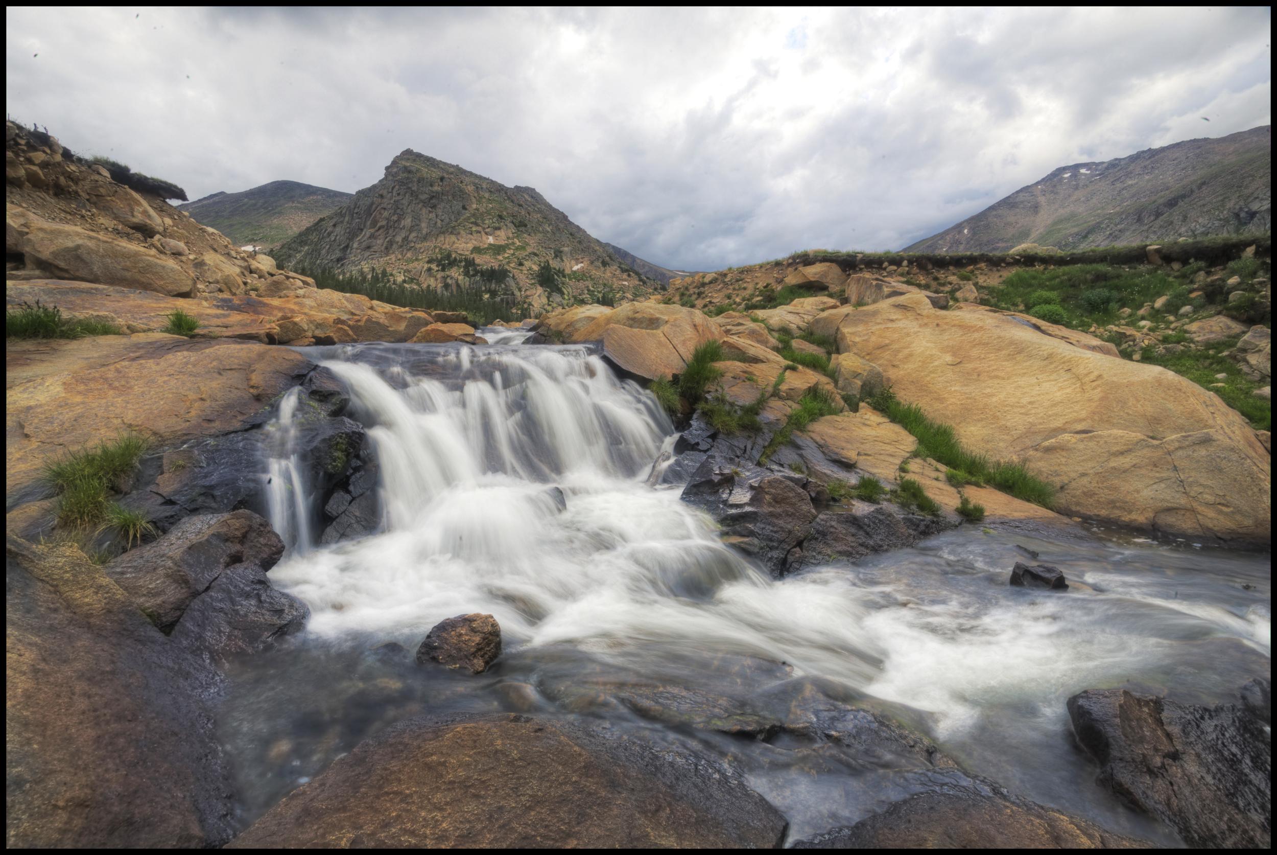 Falls near Lawn Lake, Rocky Mountain National Park, Co