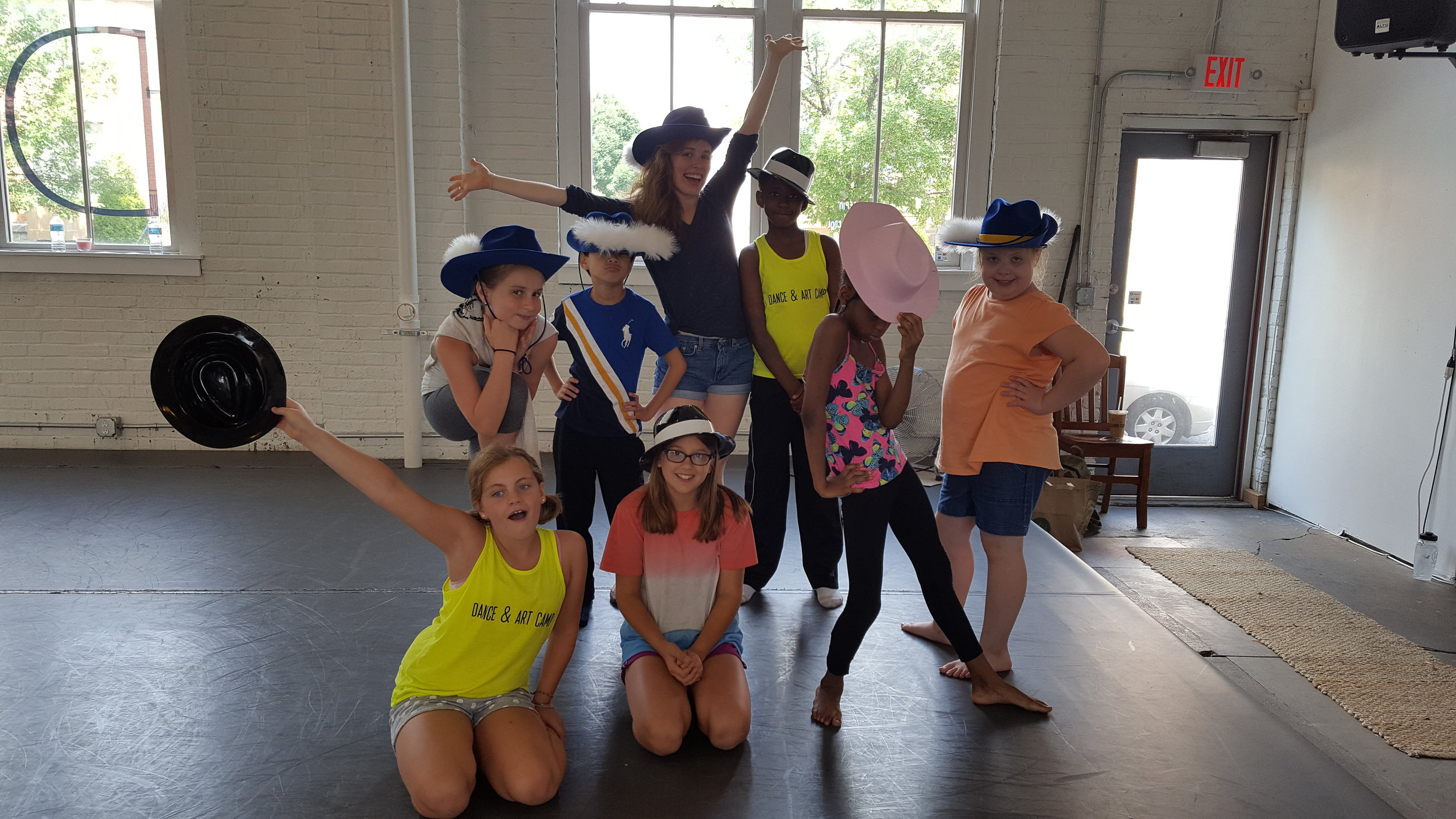 """Students learned Bob Fosse's """"Steam Heat"""" from educator Sam Gaitsch"""