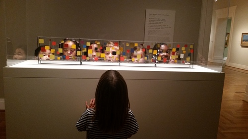 Students on a field trip at the St. Louis Art Museum
