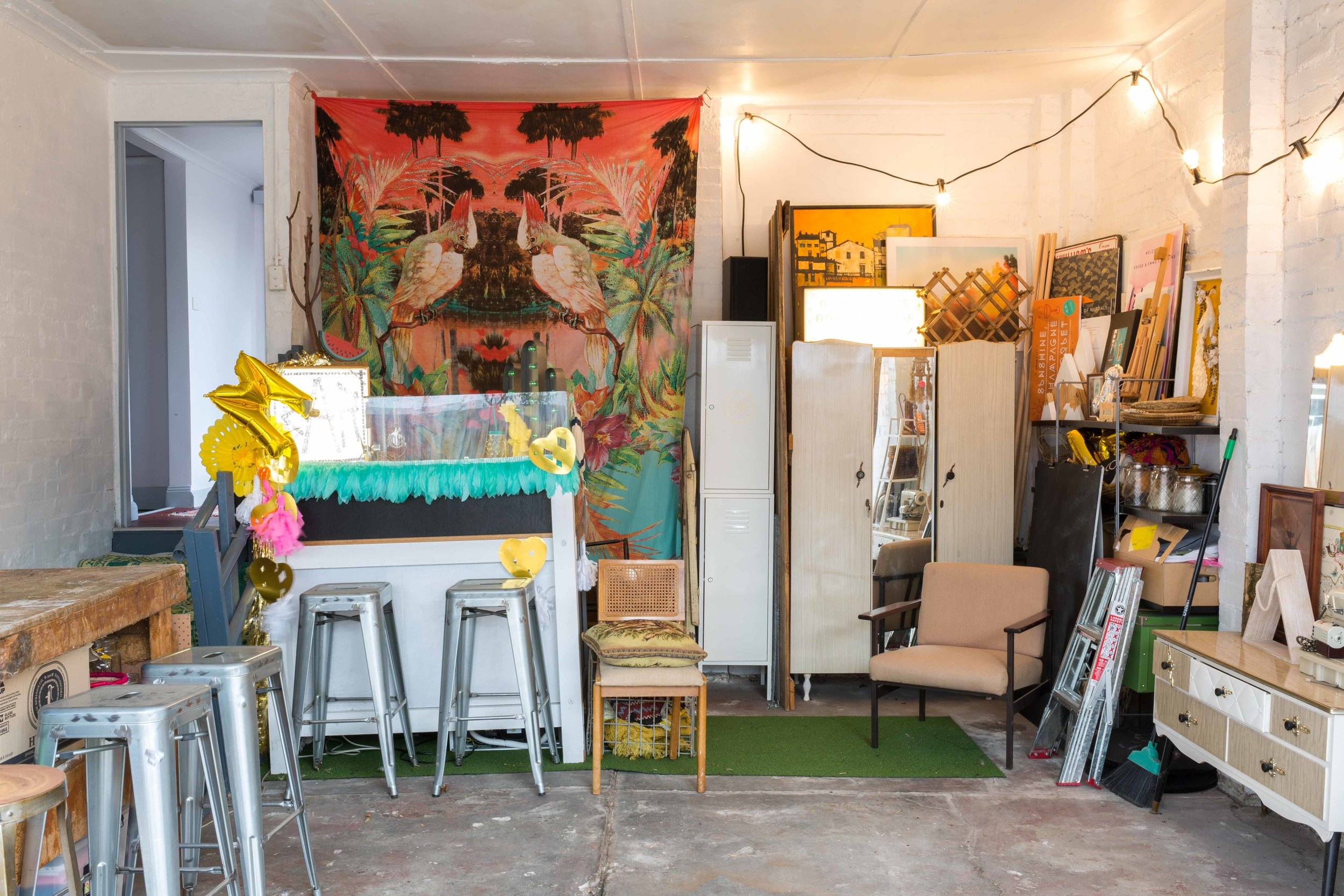 Miriam and Hamish McWilliam's garage bar - Rented Space