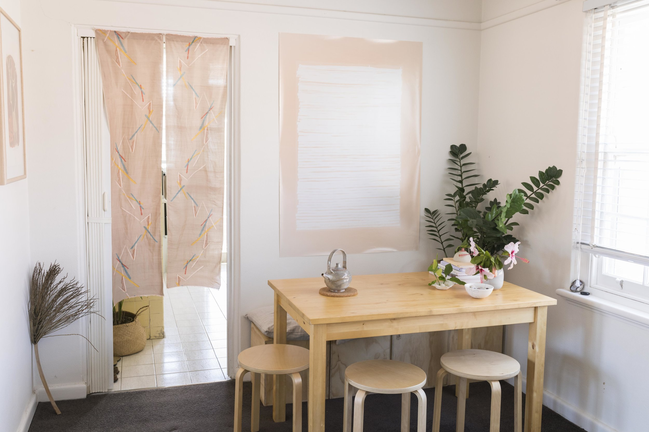Belinda Evans' rented apartment in Brighton, Melbourne. Photo by Dan Soderstrom for Rented Space.