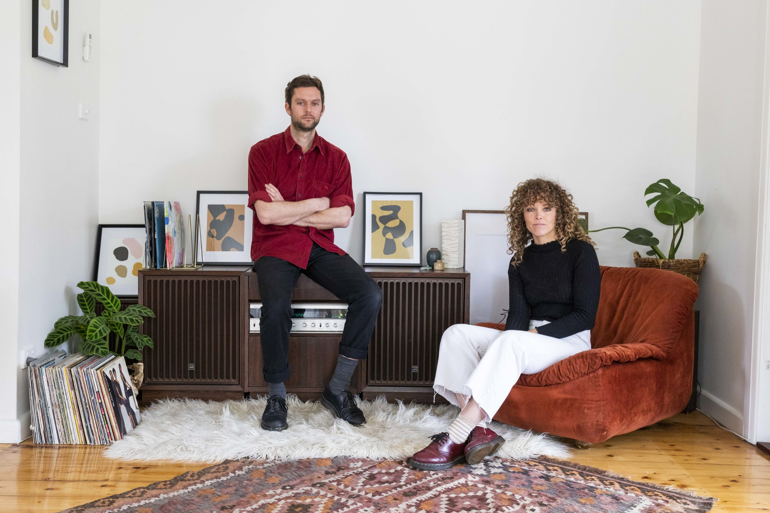 Erin Champion and Jai McTaggart's home for Rented Space.