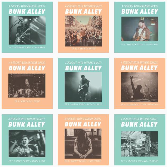 Instagram grid for Bunk Alley