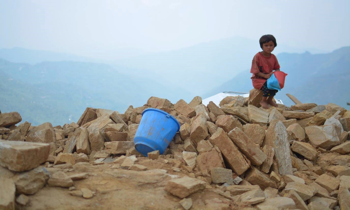 So many children have been made homeless by the earthquakes in Nepal.