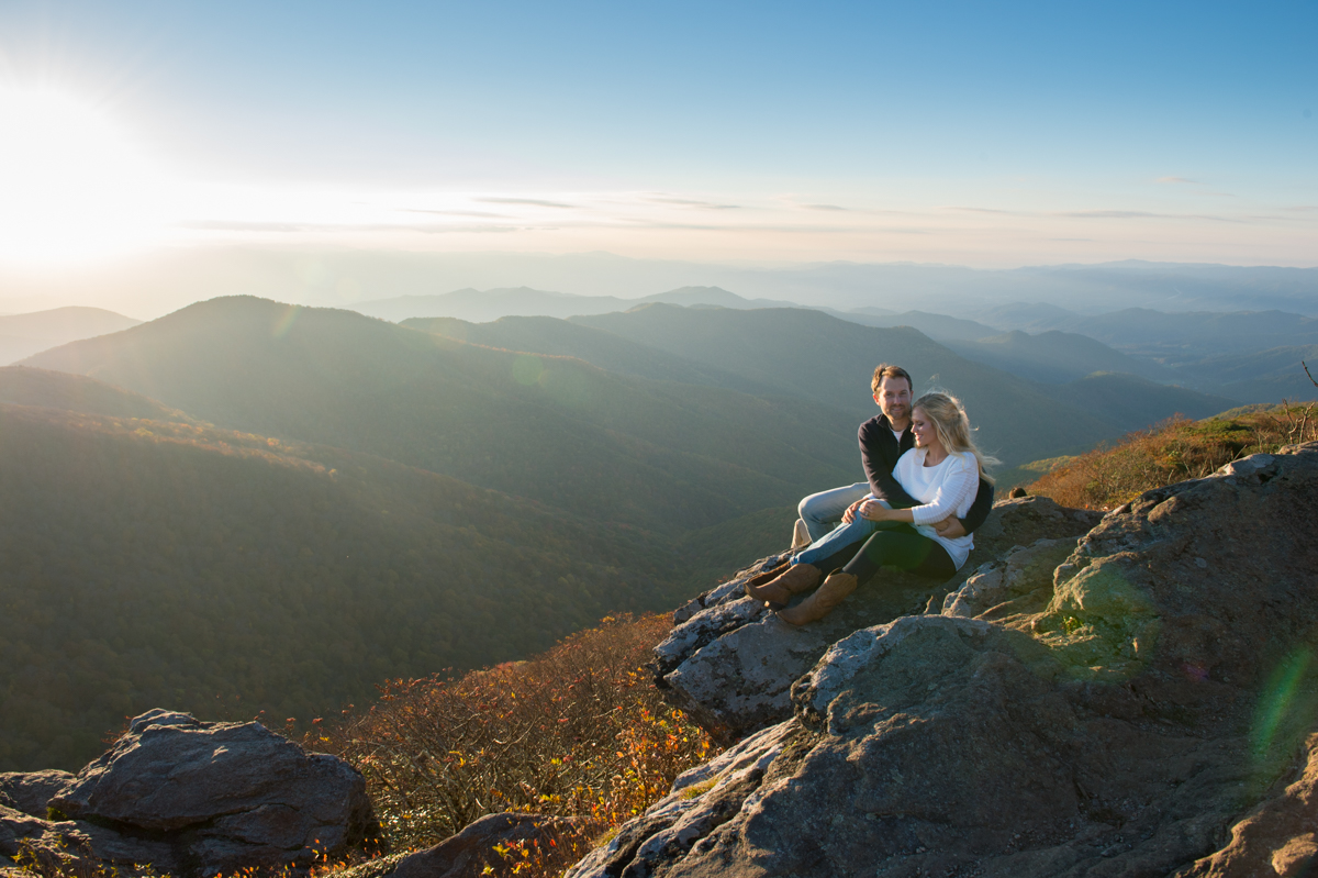 Fav. Portrait spot, Sunset at the Craggy Gardens Pinnacle