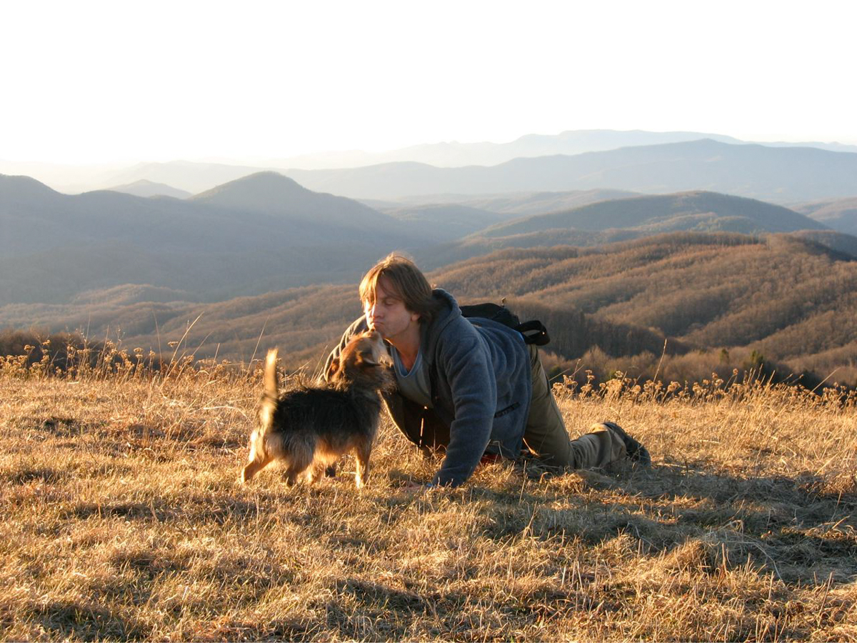Steve and Charley at top of Max Patch