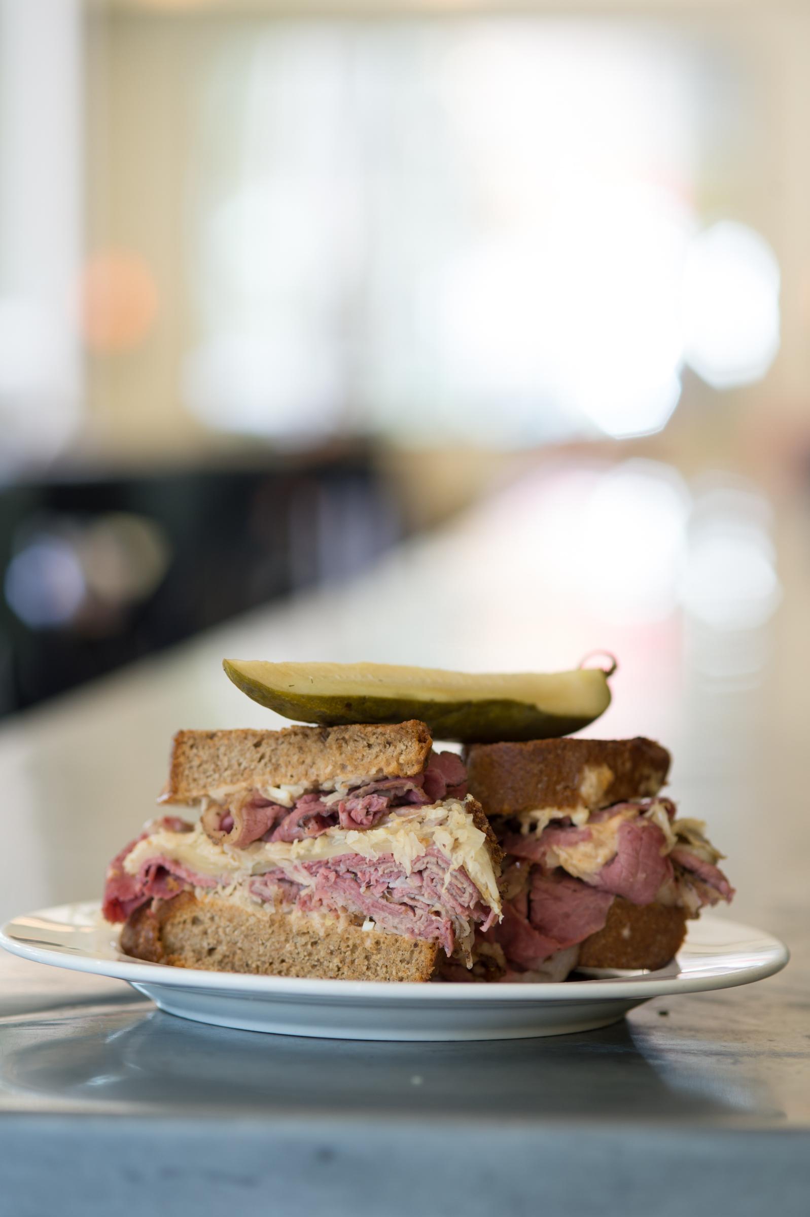 The pastrami sandwich at The Blackbird