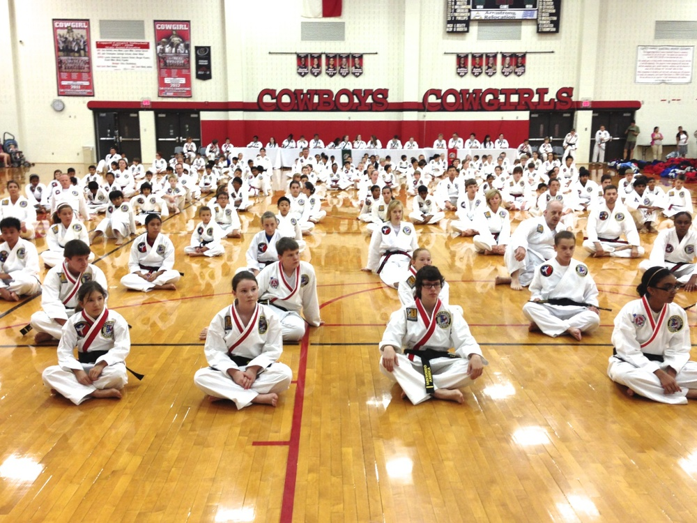 Adults, Teens and Children from Greensboro NC are getting ready for their karate Belt Test.